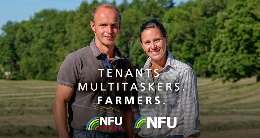 An image promoting the NFU's Tenants' Service