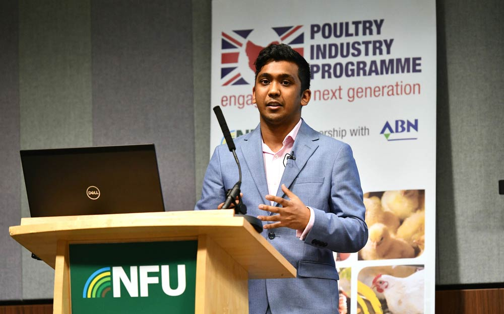 Michael Moniz, Client Executive, Kantar Worldpanel speaking during the poultry session at NFU Conference 2020