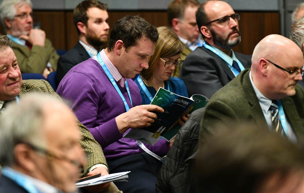 Delegates at NFU Conference during, taken during the poultry session