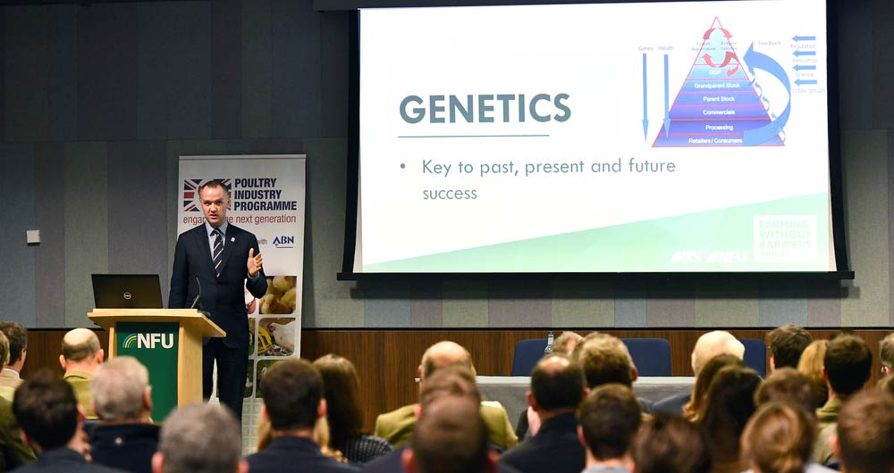 Patrick Hook, Director of P.D. Hook (Group) Ltd speaking during the poultry session at NFU Conference 2020