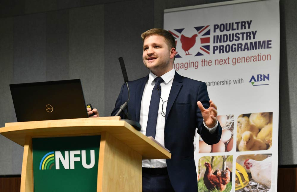 Veli Moluluo, Managing Director - Consumer Foods Division, Noble Foods speaking during the poultry session at NFU Conference 2020