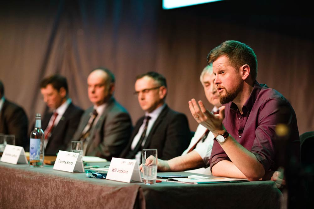 Images from the livestock session at nfu conference