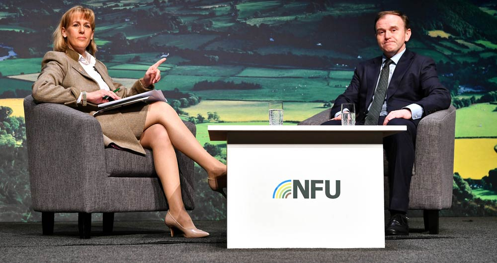 NFU20: Defra Secretary George Eustice talks flooding, ELMs and food standards