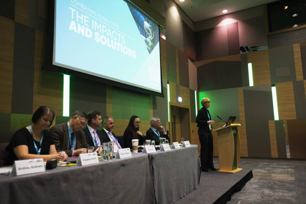 Images from the rural crime session at nfu conference 2020