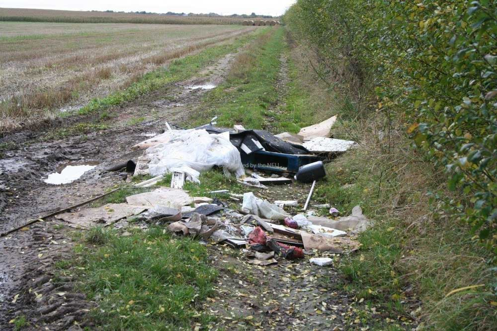 Flytipping in field Doncaster