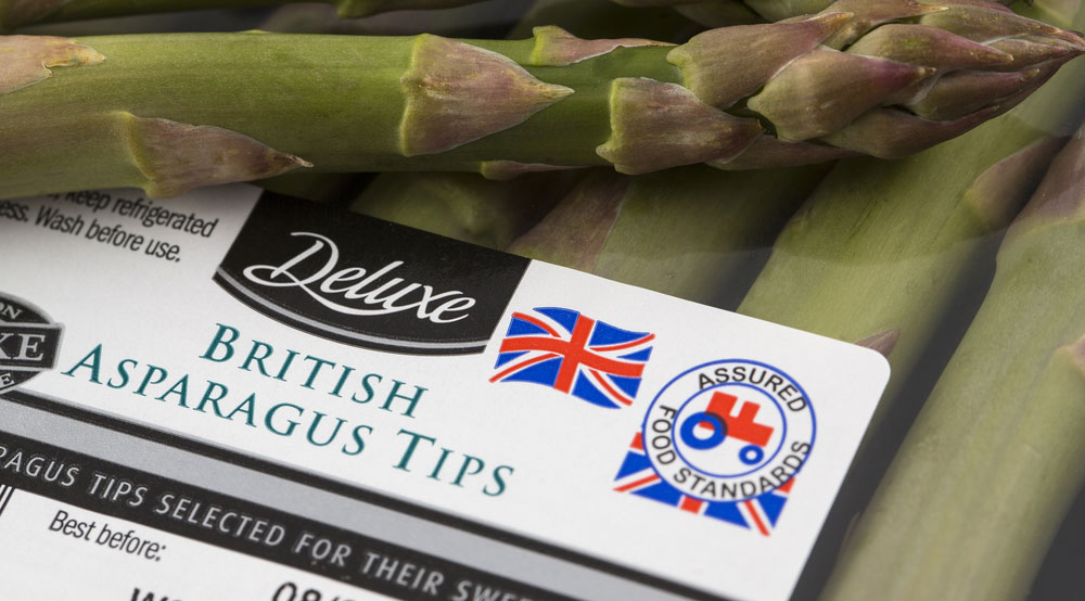 Asparagus - British Red Tractor label - Lidl