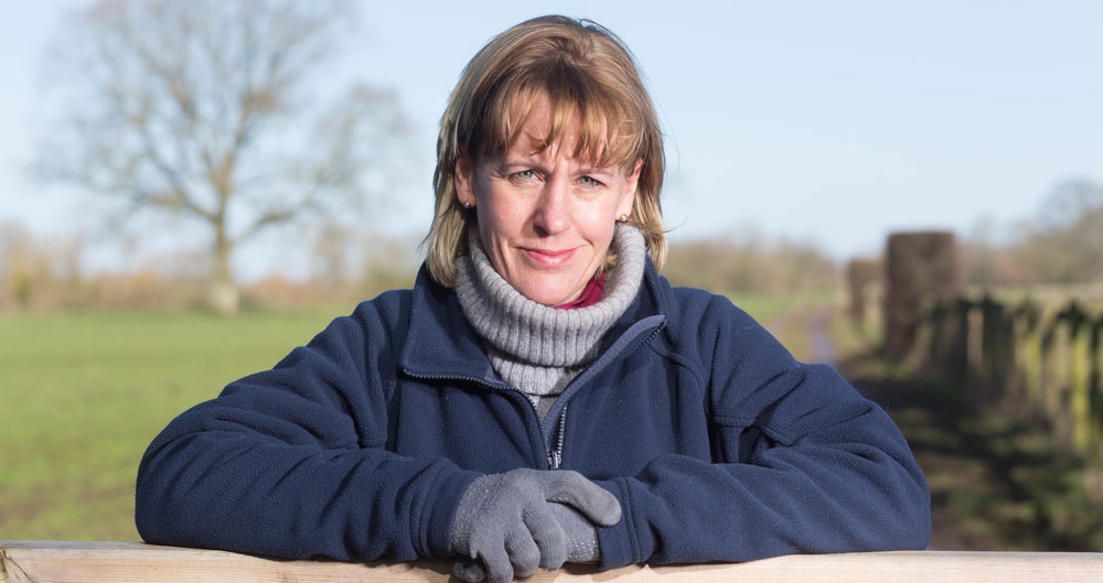 Minette Batters pictured on farm