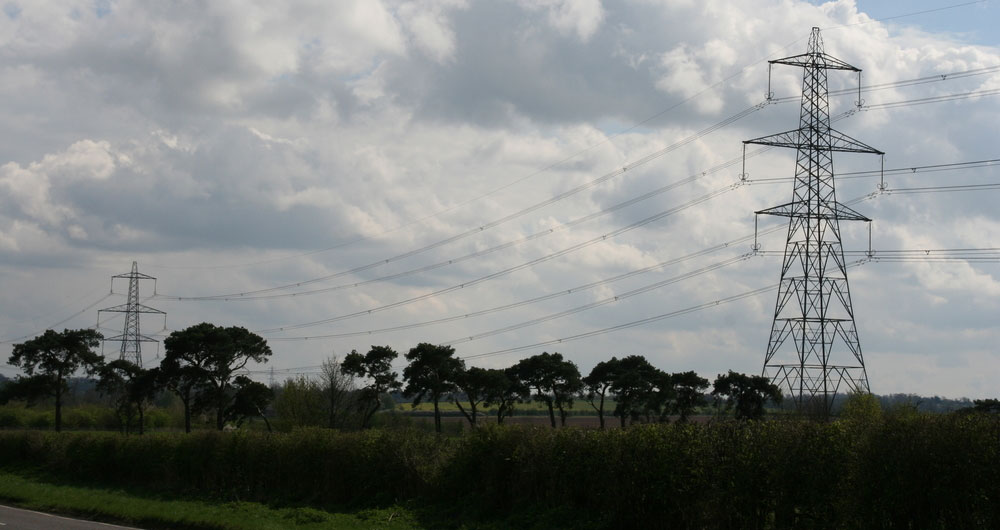Pylons in Cambridgeshire
