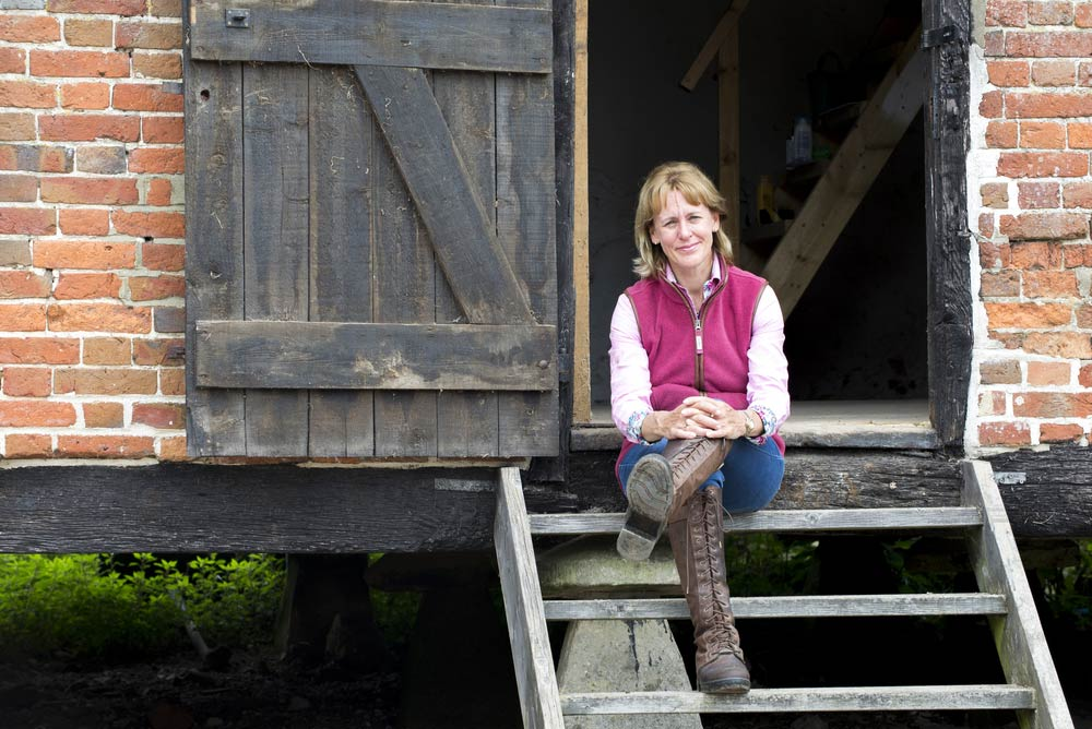 Minette Batters pictured on farm in June 2018