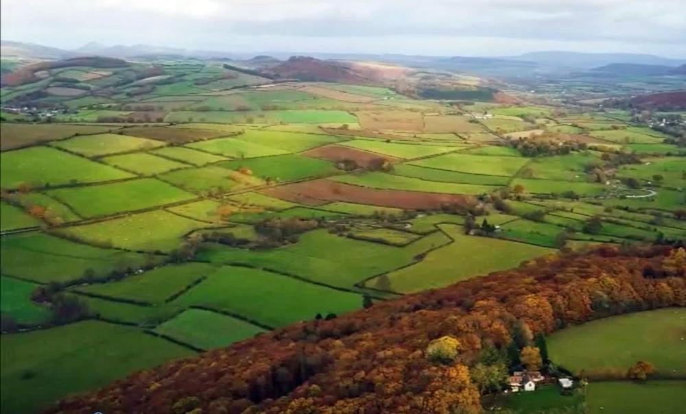 Drone footage of Carol Griffiths' farm
