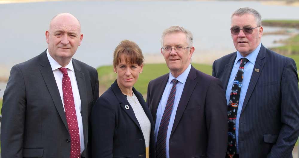 UK Farming Union Presidents standing outside