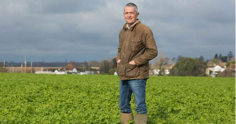 NFU Deputy President Guy Smith pictured on farm