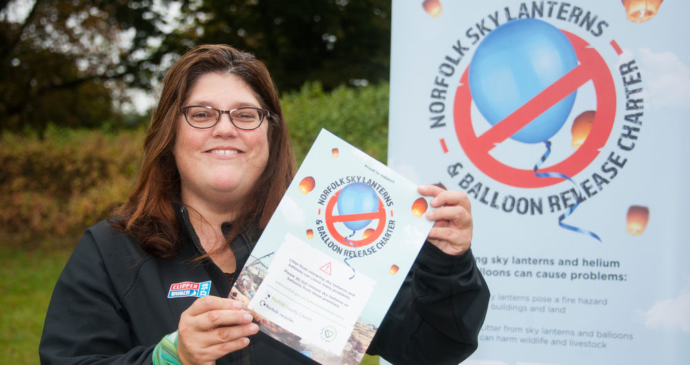 Norfolk County Councillor Sandra Squire at the sky lantern charter launch event
