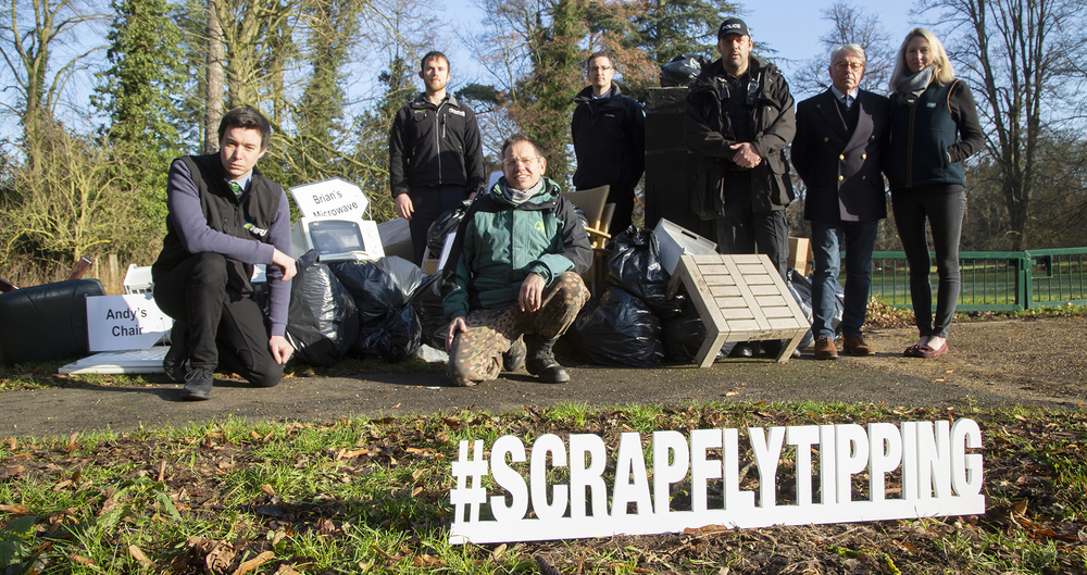 Launch of the #SCRAP fly tipping campaign in Suffolk
