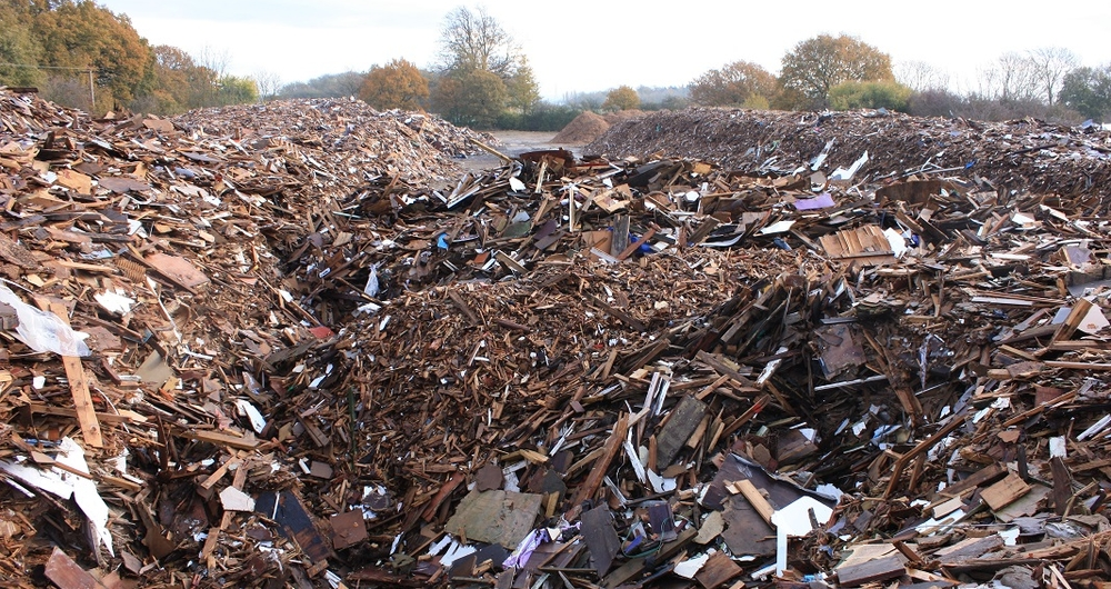 Photo illustrating the scale of waste crime