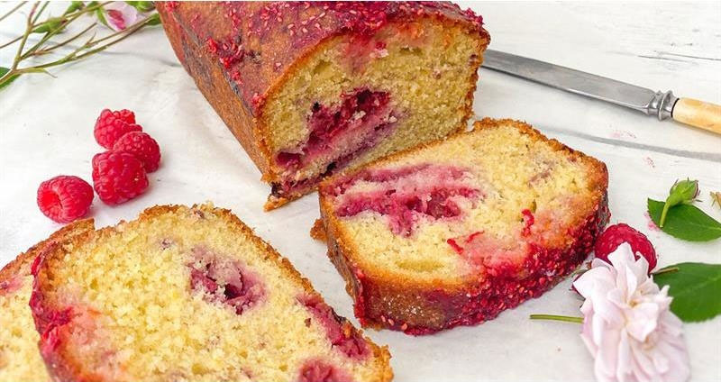 Make the perfect British raspberry drizzle cake